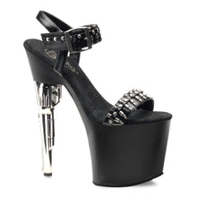 Load image into Gallery viewer, BONDGIRL-712 Pleaser Sexy Shoes 7 1/2 Inch Revolver Heel Ankle Strap Sandals with Bullet