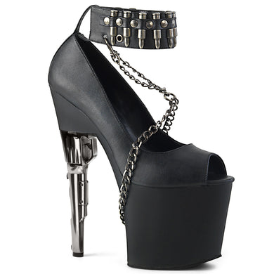 Sexy BONDGIRL-783 Pleaser Sexy Shoes 7 1/2 Inch Gun Heel Peep Toe Shoes  Pleaser
