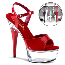 "Load image into Gallery viewer, CAPTIVA-609 Pleasers Sexy 6"" Heel Red Pole Dancing Platforms"