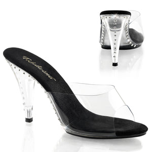 CARESS-401LS Fabulicious Sexy Shoes 4 Inch Heel Slide Slip on Shoes - Miss Hollywood - 2