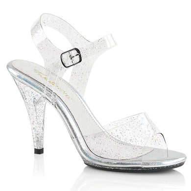 e81a6ac1695 Sexy CARESS-408MMG Fabulicious Sexy Shoes 4 Inch Mini Glitter Stiletto Heel  Ankle Strap Sandals