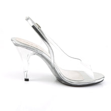 "Load image into Gallery viewer, CARESS-450 Fabulicious 4"" Heel Clear and Silver Sexy Shoes"