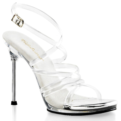 CHIC-07 Fabulicious 4.5 Inch Heel Clear Posing Shoes