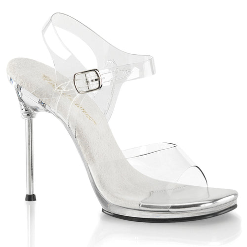 CHIC-08 Fabulicious 4.5 Inch Heel Clear Posing Shoes