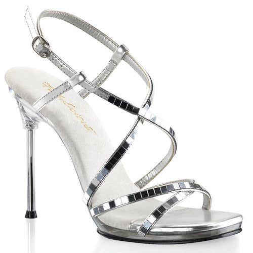 CHIC-09 Fabulicious 4.5 Inch Heel Silver Sexy Shoes-Fabulicious- Sexy Shoes