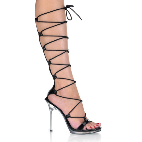 CHIC-60 Fabulicious Sexy Shoes 4 1/2 Inch Stiletto Heel Lace-Up Mini-Platforms Sale Sandals - Sexy Shoes - 2