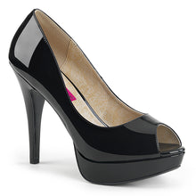 "Load image into Gallery viewer, CHLOE-01 Pink Label 5"" Heel Black Patent Platform Shoes"