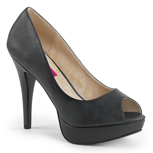 CHLOE-01 Pleaser Pink Label 5 Inch Heel Black Platform Shoe-Pleaser Pink Label- Sexy Shoes