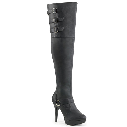 Sexy CHLOE-308 Pleaser Sexy Wide Width 5 Inch Heel Stiletto Heel Thigh High Boot  Pleaser - Miss Hollywood - Sexy Shoes