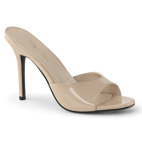 CLASSIQUE-01 Pleaser 4 Inch Heel Nude Patent Fetish Footwear-Pleaser- Sexy Shoes