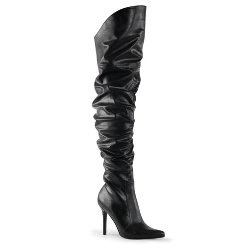 CLASSIQUE-3011 Pleaser Sexy Shoes 4 Inch Pointed-Toe Thigh High Stiletto Heel Boots - Sexy Shoes - 1