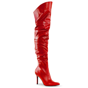CLASSIQUE-3011 Pleaser Sexy Shoes 4 Inch Pointed-Toe Thigh High Stiletto Heel Boots - Pleaser Shoes UK Supplier