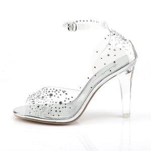 Clearly-430RS Ladies Bling Clear Posing Competition Shoes