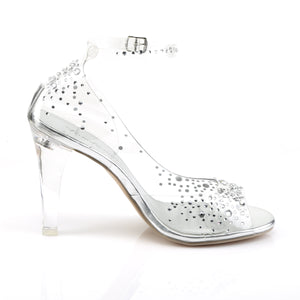 Clearly-430RS Pleasers Ladies Bling Clear Posing Competition Shoes