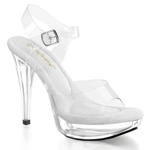 COCKTAIL-508 Clear Sexy Shoes 5 Inch Heel, 1 Inch Platforms Ankle Strap Sandals-Shoes-Fabulicious-Footwear Fetish-Clear/Clear-Miss Hollywood Sexy Shoes