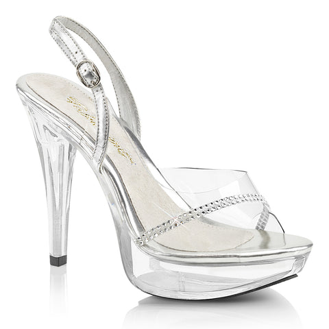 COCKTAIL-556 Fabulicious Sexy Transparent Sling Back Shoes 5 Inch Heel
