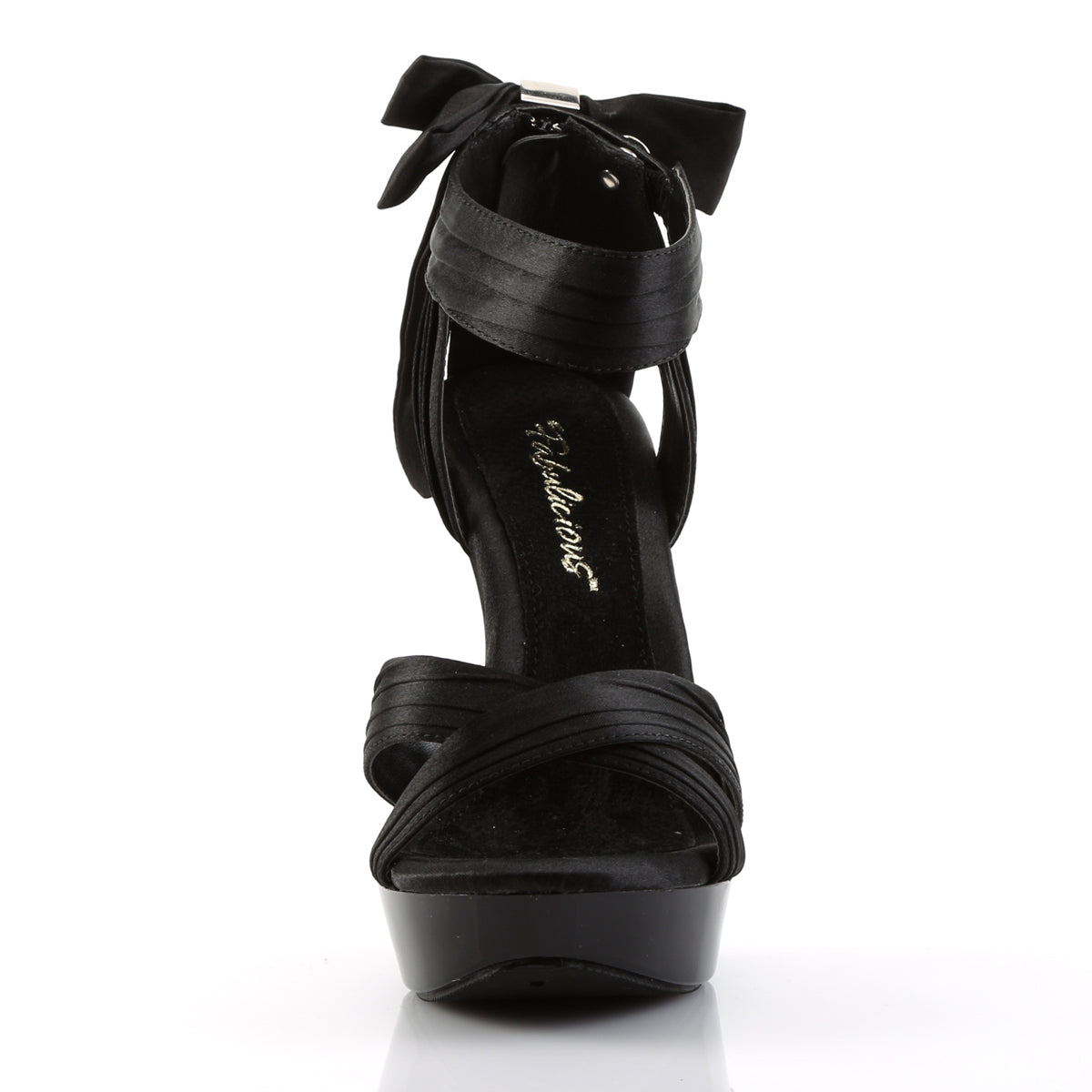 5284981937b COCKTAIL-568 Black Sexy 5 Inch Heel Criss Cross Pleated Straps Sandals
