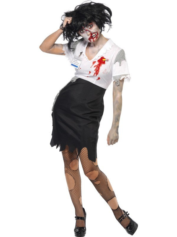 SM21584 Worked To Death Office Zombie Fancy Dress Costume-Costume-Smiffys-Large-Miss Hollywood Sexy Shoes