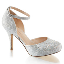 Load image into Gallery viewer, COVET-03 Fabulicious 3.5 Inch Heel Silver Glitter Sexy Shoes