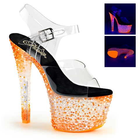 CRYSTALIZE-308PS Pleaser Sexy Shoes 7 Inch Spike Heel Platforms Sandals - Sexy Shoes - 1