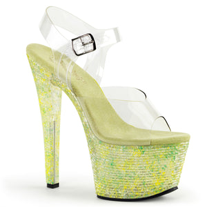 CRYSTALIZE-308TL Pleaser Sexy Shoes 7 Inch Spike Heel Platforms Sandals - Miss Hollywood Pleaser Shoe Supplier