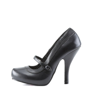 CUTIEPIE-02 Pin Up Couture Sexy 4 1/2 Inch Heels Mary Jane Stiletto Shoes Pumps Black PU