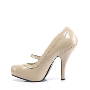 CUTIEPIE-02 Cream Patent Pin Up Couture Heels Mary Jane Stiletto Shoes Pumps