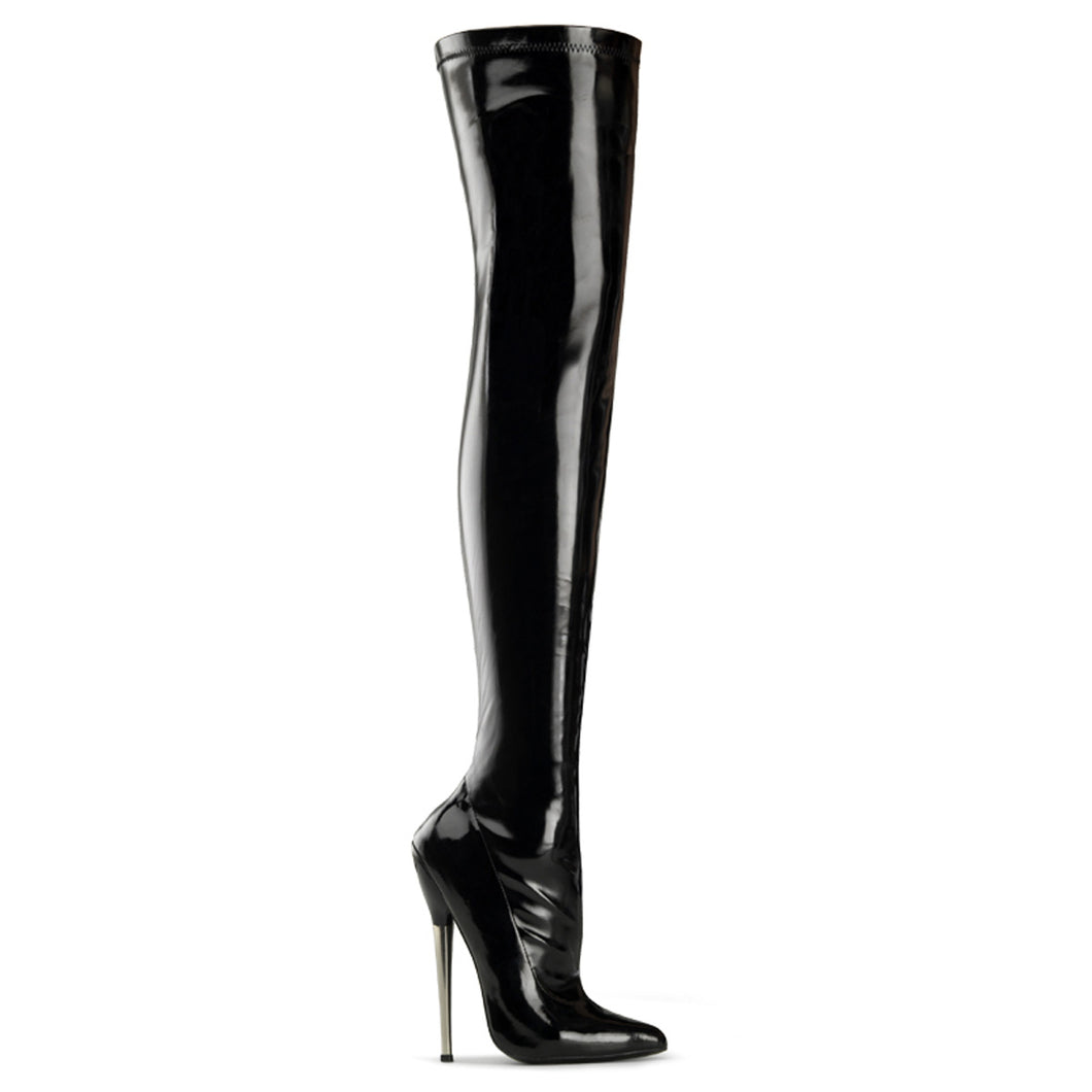 DAGGER-3000 Devious 6 Inch Heel Black Patent Kinky Boots-Devious- Sexy Shoes