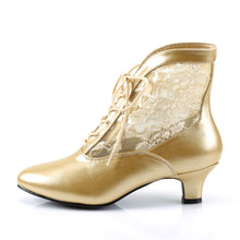 Load image into Gallery viewer, DAME-05 Funtasma 2 Inch Heel Gold Women's Boots