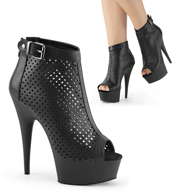 DELIGHT-1011 Sexy Peep Toe Ankle Boots Platform Shoes - Miss Hollywood