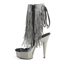 "Load image into Gallery viewer, DELIGHT-1017RSF Pleaser 6"" Heel Clear Dark Strippers Shoes-Pleaser- Sexy Shoes Pole Dance Heels"
