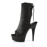 DELIGHT-1018 Pleaser Sexy Ankle Boots 6 Inch Heel w Platforms Laceup Back