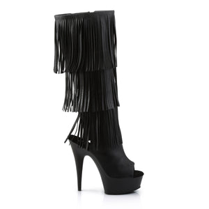 "DELIGHT-2019-3 Pleaser 6"" Heel Black Pole Dancing Platforms-Pleaser- Sexy Shoes Fetish Heels"