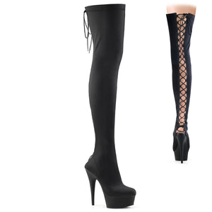 DELIGHT-3003 Pleaser Sexy Shoes 6 Inch Heel Platforms Thigh High Length Boots for Pole Dancing