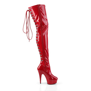 Sexy DELIGHT-3063 Pleaser Kinky Boots 6 Inch Back Lace Platforms Thigh High Boots  Pleaser - Miss Hollywood - Sexy Shoes