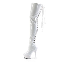Load image into Gallery viewer, Sexy DELIGHT-3063 Pleaser Kinky Boots 6 Inch Back Lace Platforms Thigh High Boots  Pleaser - Miss Hollywood - Sexy Shoes