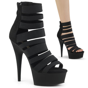 "DELIGHT-600-17 Pleaser 6"" Heel Black Pole Dancing Platforms-Pleaser- Sexy Shoes"