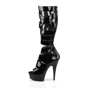 Sexy DELIGHT-600-49 Sexy Peep Toe Knee High Sandal Boots  Pleaser - Miss Hollywood - Sexy Shoes
