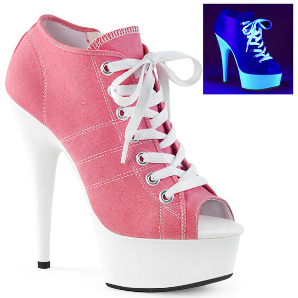 DELIGHT-600SK-01 Pleaser Sexy Trainers Sneaker Pole Dancing Shoes