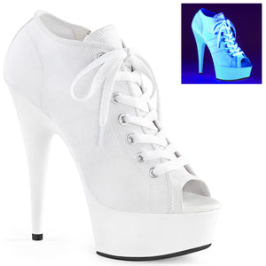 DELIGHT-600SK-01 Pleaser Sexy Trainers Sneaker Peep Toe Pole Dancing Shoes