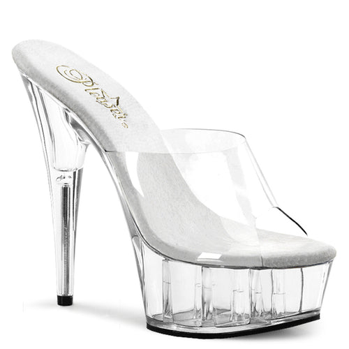 DELIGHT-601 Pleaser 6 Inch Heel Clear Pole Dancing Platforms-Pleaser- Sexy Shoes