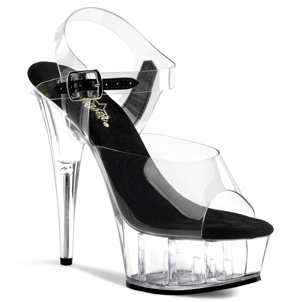 DELIGHT-608 Pleaser Sexy Shoes 6 Inch Heel, 1 3/4 Inch Platforms Ankle Strap Sandals - Pleaser Shoes UK Supplier