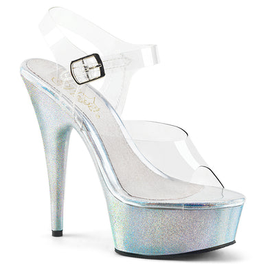 501913a2401 Sexy DELIGHT-608HG Pleaser Sexy Shoes 6 Inch Heel Ankle Strap Holographic  Glitter Stripper Sandals