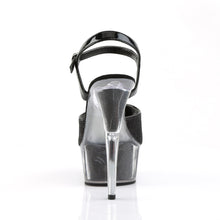"Load image into Gallery viewer, DELIGHT-609-5G 6"" Heel Black Glitter Pole Dancing Platforms"