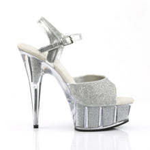 Load image into Gallery viewer, Sexy DELIGHT-609-5G Pleaser Sexy 6 Inch Heel Glitter Filled Platforms Ankle Strap Sandals  Pleaser - Miss Hollywood - Sexy Shoes