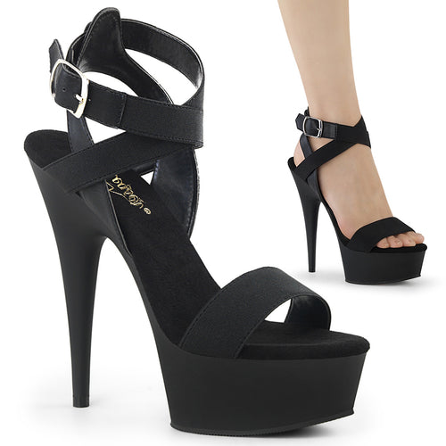 Sexy DELIGHT-646 Sexy 6 Inch Platform Heel Ankle Wrap Strap Sandal  Pleaser - Miss Hollywood - Sexy Shoes