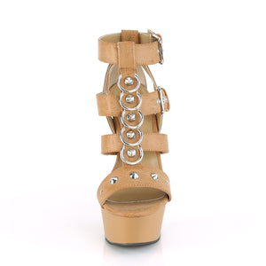 DELIGHT-658 Pleaser 6 Inch Heel Taupe Pole Dancing Platform