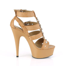Load image into Gallery viewer, DELIGHT-658 Pleaser 6 Inch Heel Taupe Pole Dancing Platform