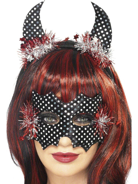 SM24895 Devildina Mask and Horn Set - Miss Hollywood - 1