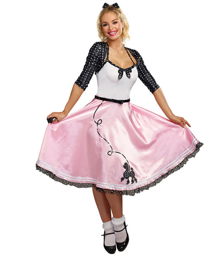 DG10709 Sexy Rock Around The Clock Costume-Costume-Dreamgirl-Small-Miss Hollywood Sexy Shoes